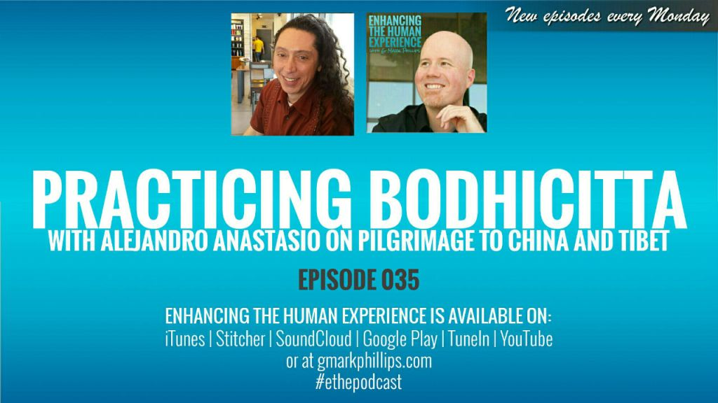 Practicing bodhicitta with AlejAndro Anastasio on Pilgrimage to China and Tibet