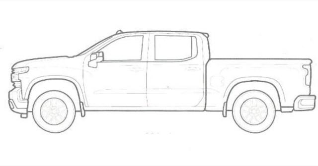 5 Silverado crew cab Coloring Page  GM Authority