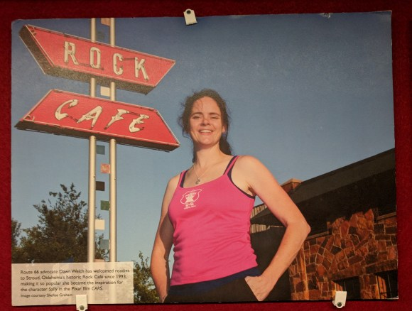 Photo of Rock Cafe owner from Museum