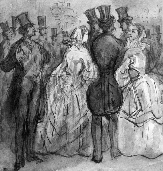 Victorian ladies and gentlemen.