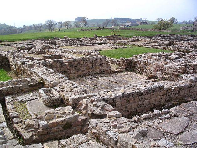 Low foundation walls at Vindolanda