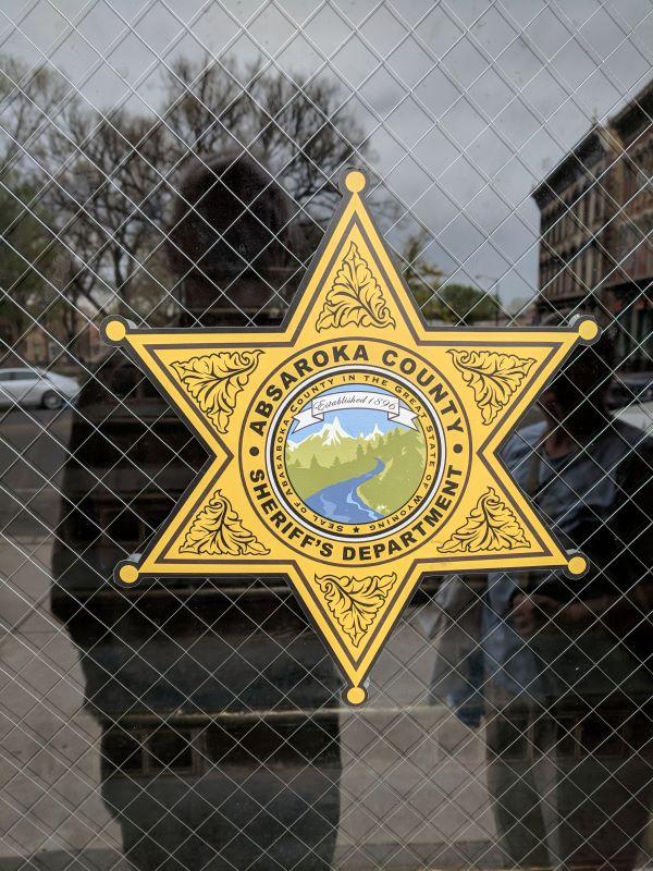 Absaroka Sheriff's shield on set used for TV series.