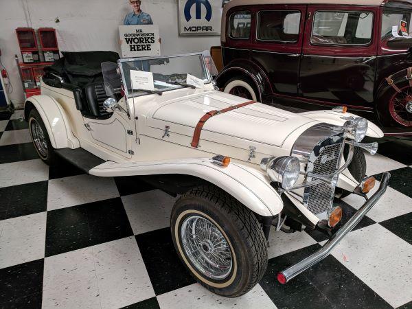 Mercedes convertible in car museum
