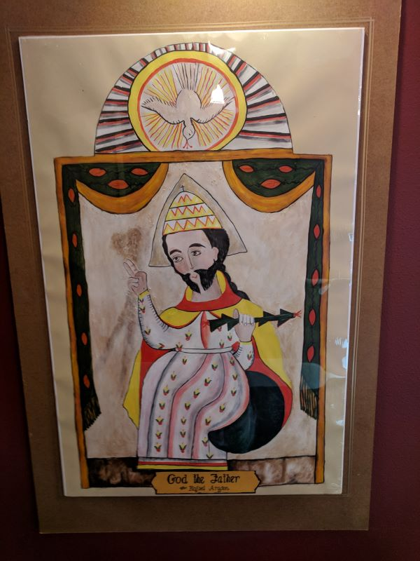 Painting of God the Father in Plaza Hotel, NM
