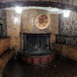 El Rancho lobby fireplace
