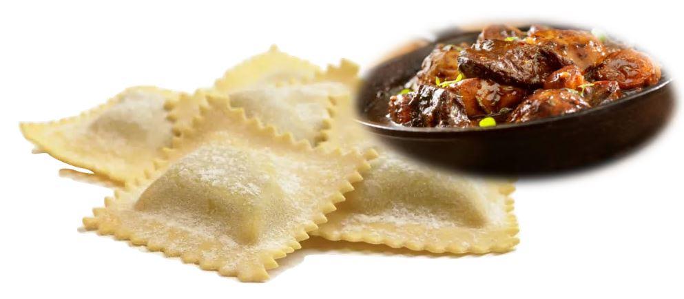 Runderstoofvlees Ravioli Tortelli