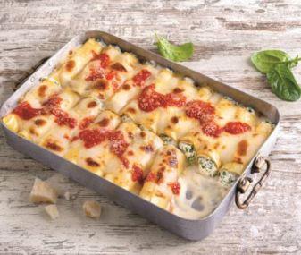 Cannelloni met ricotta en spinazie