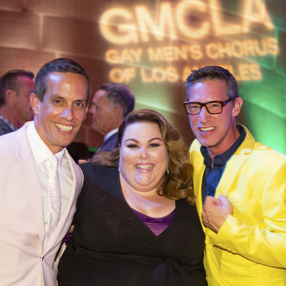 Fred Arens (L), Jason Duguay (R), with Chrissy Metz