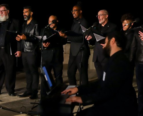 Performing at The Getty for the LA Arts Recovery Fund reception