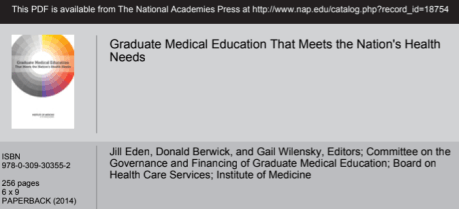 GME Funding and Accountability(?) - The Graduate Medical Education