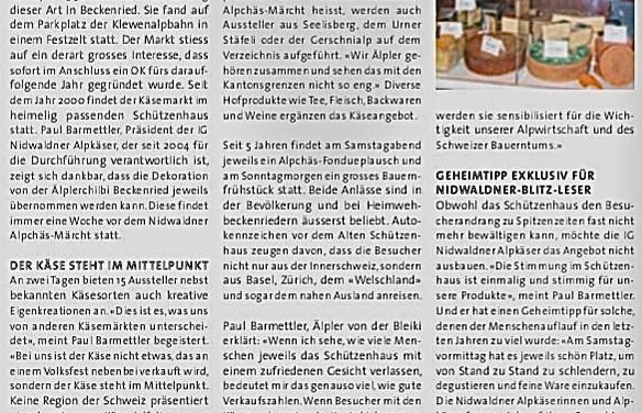 Vorschau Nidwaldner Alpchäs-Märcht, Beckenried, 19./20. November 2016
