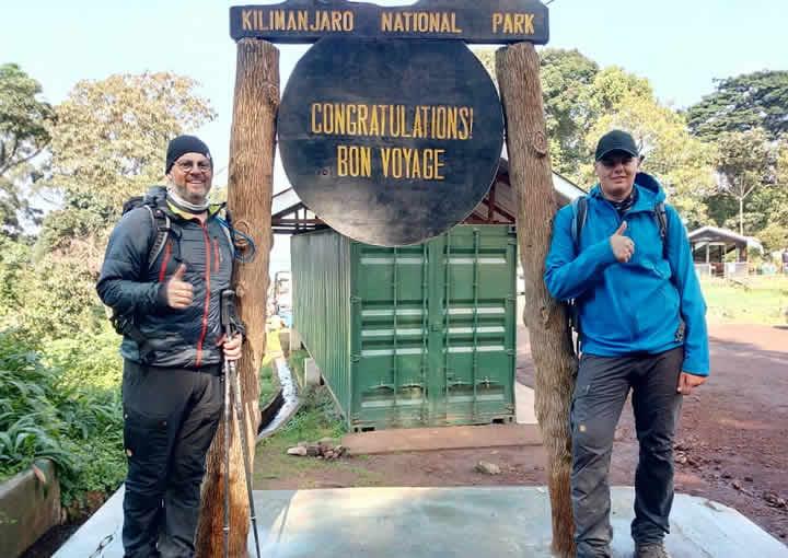 End of trek -mweka gate