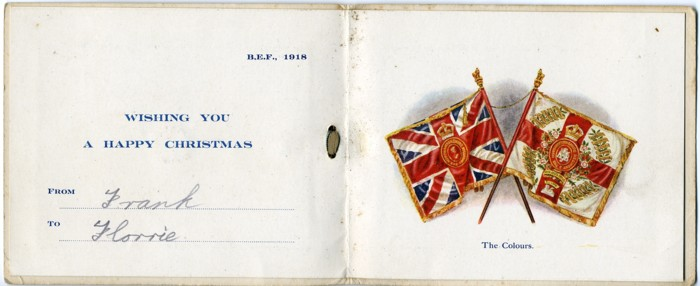 British Army Regimental Christmas Cards Of WWI Great