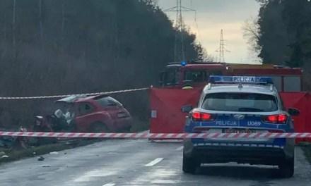 Wypadek na trasie z Rogalinka do Czapur – 1 osoba nie żyje.