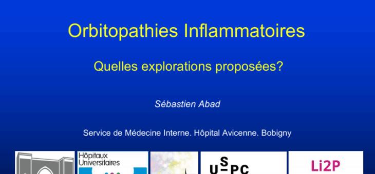 Orbitopathies inflammatoires