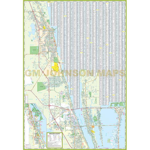 Cocoa Florida Map.Beach Cocoa Florida And Melbourne Map