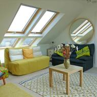Example Of 4 Velux's Fitted As Quatro Combination Making A Bright And Airy Living Space. Property In Cambridge.