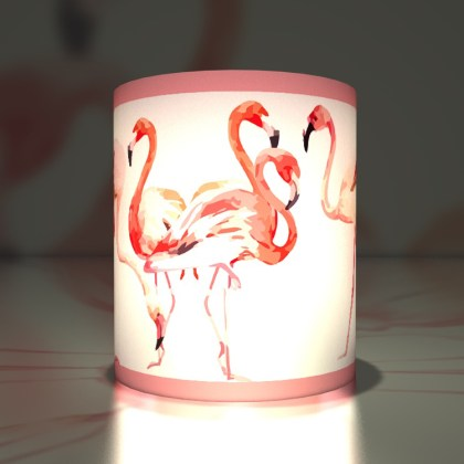 Windlicht: Sommerliche Flamingos