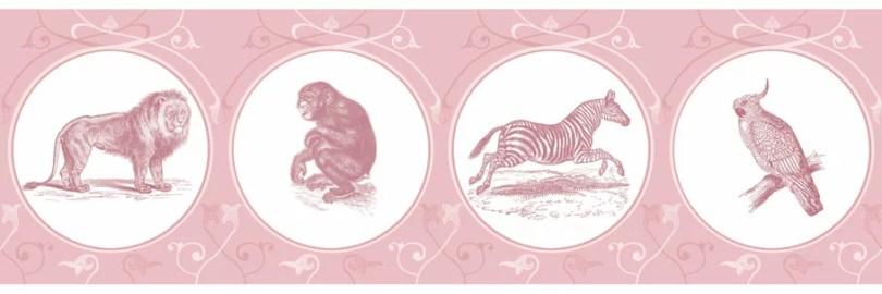 Klassisch ornamentale Tapete in pink