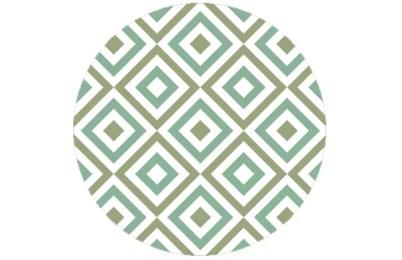 Coole square diamants grün angepasst an Farrow and Ball Saxon Green 80 | Arsenic 214