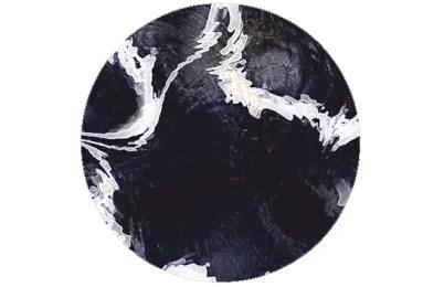 Marble Art Tapete - schwarz