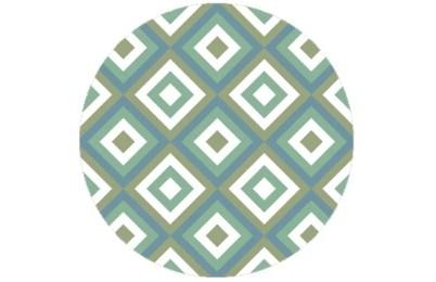 Elegante square diamants grün angepasst an Farrow and Ball Saxon Green 80 | Chinese Blue 90
