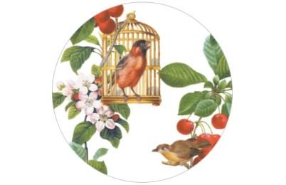 Sommer Tapete mit zwitschernden Vögeln