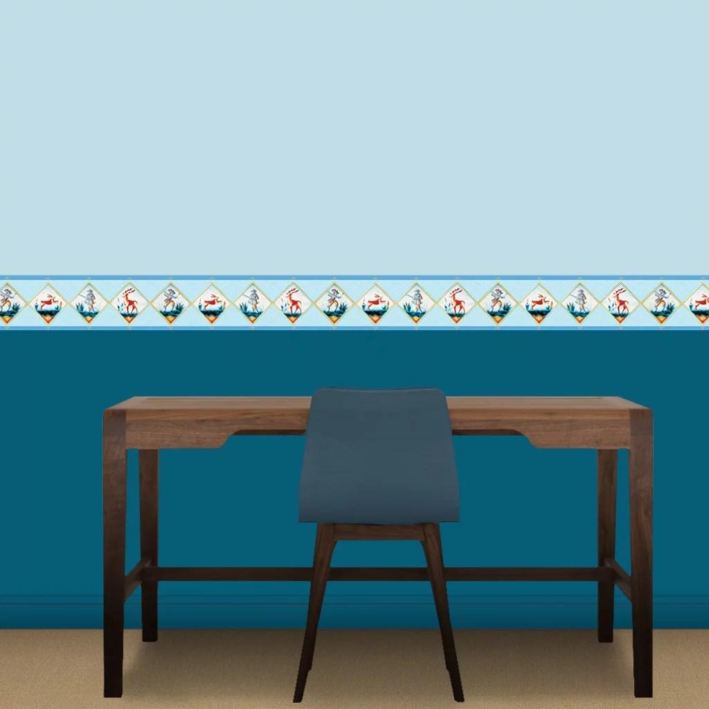 extravagante tapeten und bordüren mit figuren von gmm, Wohnzimmer