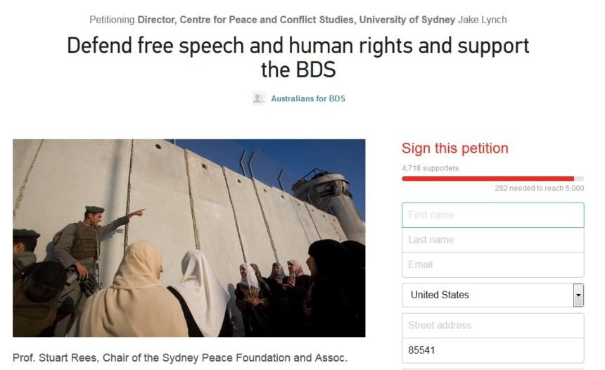 BDS Petition