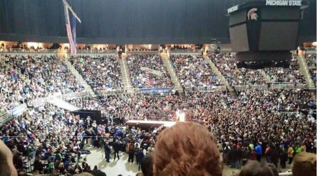 Sanders rally at MSU