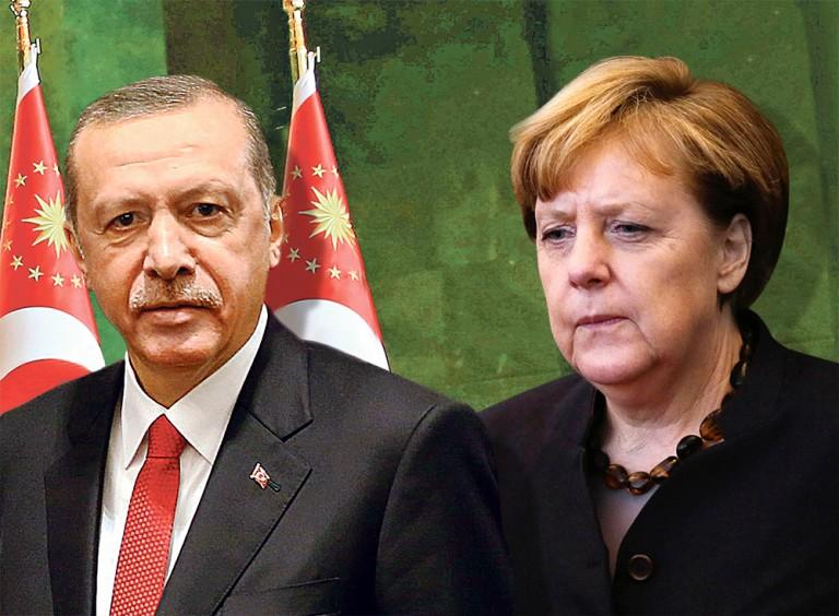 Merkel bowing