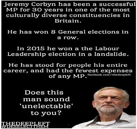 Unelectable my arse