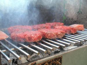 Hamburgers.  Original by cyclonebill/Wikipedia.