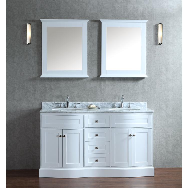 ariel by seacliff montauk 60 double sink bathroom vanity set