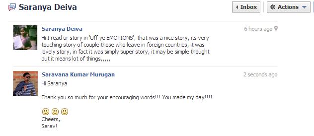 Saranya on FB Messages