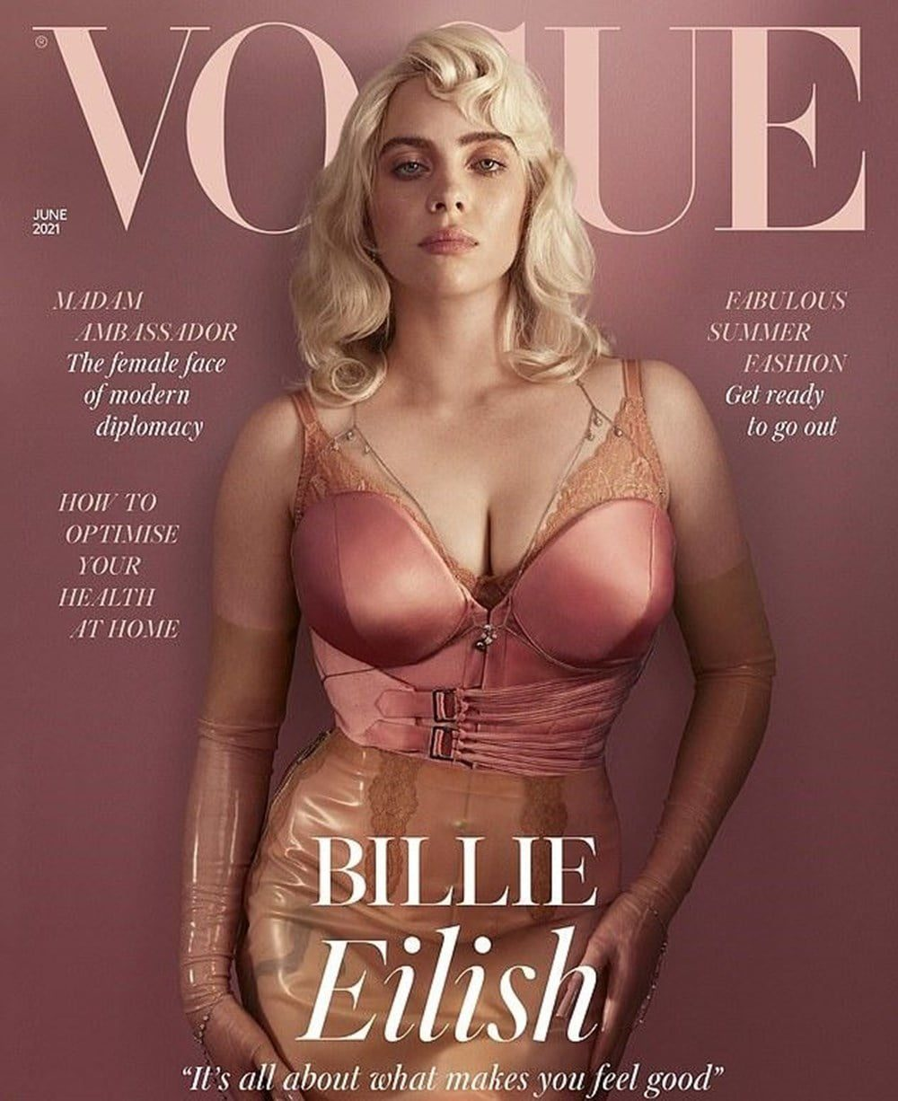 Eilish's much-talked-about VOUGE cover