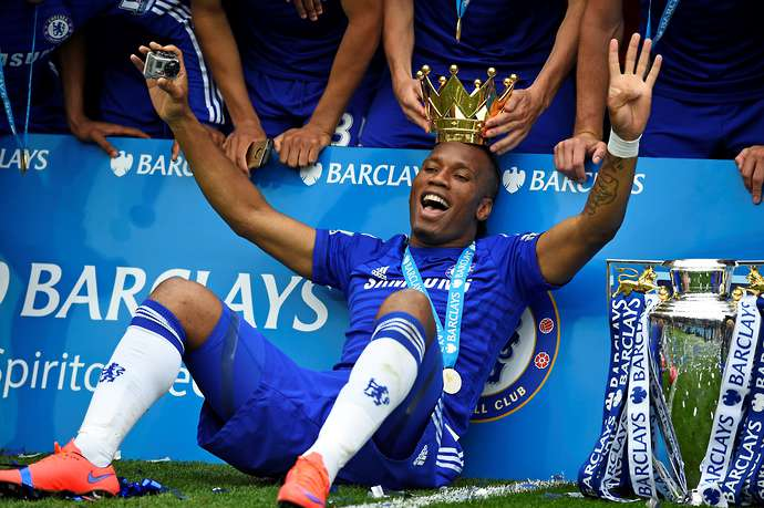 Drogba with Chelsea