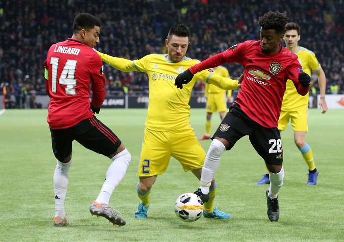 Angel Gomes in action for Man United