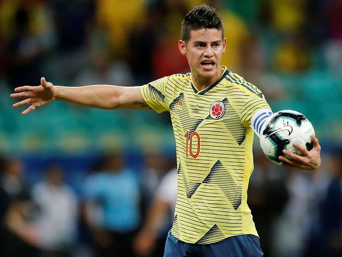 James with Colombia