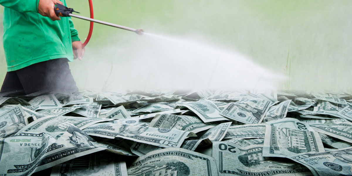 Glyphosate Spraying and Monsanto money