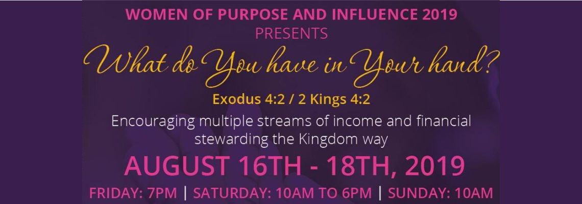 Women of Purpose and Influence Conference 2019
