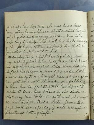 1927.01.11-12 - Annie F Morris diary