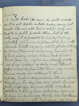 1927.01.13-14 - Annie F Morris diary