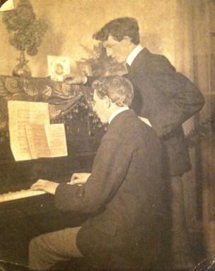 Fred Wilson at piano