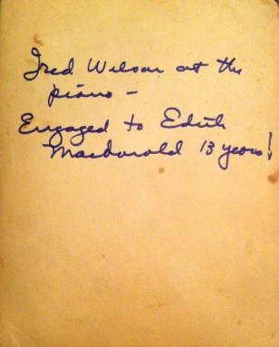 label on back, written by Audrey