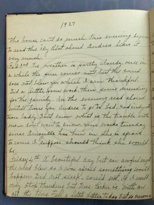 1927.02.02-04 - Annie F Morris diary