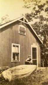 "labeled ""Aunt Minn's cabin in Georgetown Maine"""