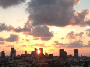 Tel Aviv sunset from my brothers apartment