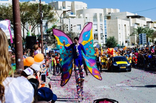 Purim parade butterfly!