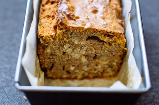 Baked pumpkin bread